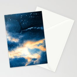 Celestial Grunge Clouds Stationery Cards