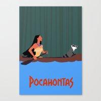 pocahontas Canvas Prints featuring Pocahontas by TheWonderlander