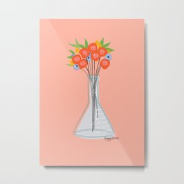 Colorful Test Tube Flower Bouquet Metal Print