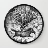 sisters Wall Clocks featuring Sisters by Ulrika Kestere