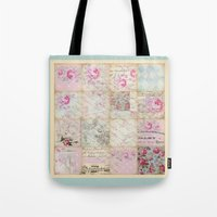 shabby chic Tote Bags featuring Shabby Chic No.1 by Artistic Home Decor