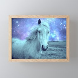 Blue Horse Celestial Dreams Framed Mini Art Print