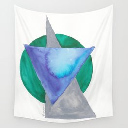 180818 Geometrical Watercolour 3 | Colorful Abstract | Modern Watercolor Art Wall Tapestry