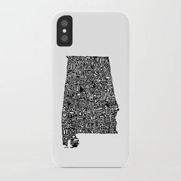 Typographic Alabama iPhone Case