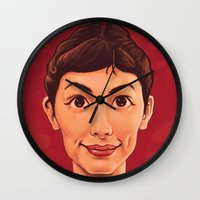 amelie Wall Clocks featuring Amelie by Dale C Bowers