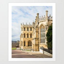 Sunshine on St. George's Chapel at Windsor Castle Art Print