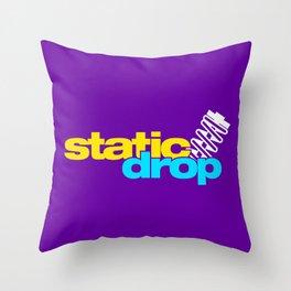 Static drop v3 HQvector Throw Pillow