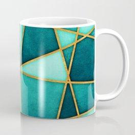 Aquamarine Watercolor Skewed Color Blocks Coffee Mug