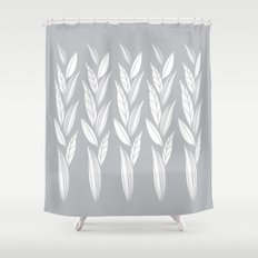 Growing Leaves: Silver Gray  Shower Curtain