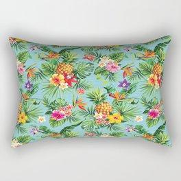Bright Blue Tropical Rectangular Pillow