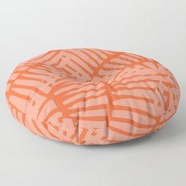 Basketweave-Persimmon Floor Pillow