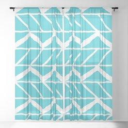 Blue Tread Sheer Curtain