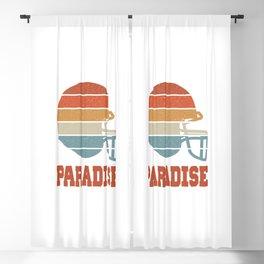 Paradise  TShirt American Football Shirt Footballer Gift Idea  Blackout Curtain