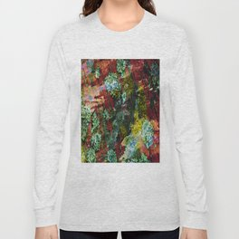texture paint peeling weathered Long Sleeve T-shirt