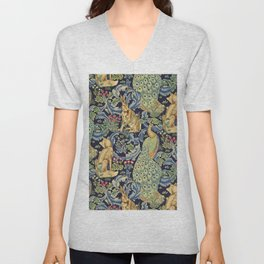 "William Morris ""Forest"" 1. Unisex V-Neck"