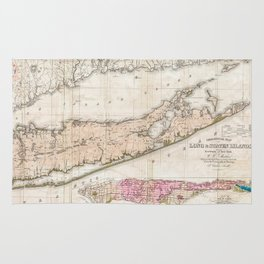 Long and Staten Island Map Rug