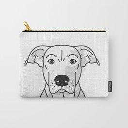 Labrador Mix Dog Portrait -Custom, black palette, minimal Carry-All Pouch