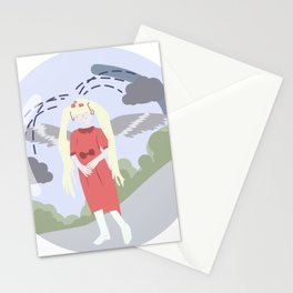 Nature-girl in globe Stationery Cards