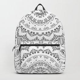 MOONCHILD MANDALA BLACK AND WHITE Backpack