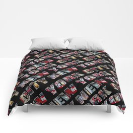 New York City (typography diagonal) Comforters