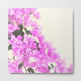 Pink Grecian Flowers Metal Print