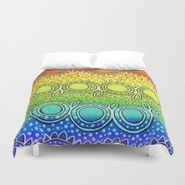 Rainbow Doodle Duvet Cover