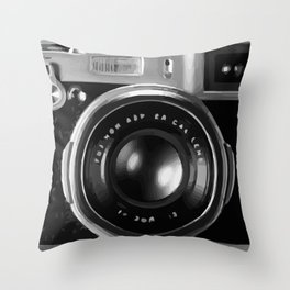 Camera Cover Throw Pillow