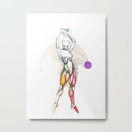 Solar, nude female ballerina, NYC artist Metal Print