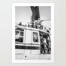 Heli-Skiing Art Print