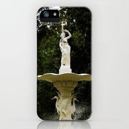 Forsyth Fountain Savannah Georgia iPhone Case