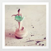 ballerina Art Prints featuring ballerina by elle moss