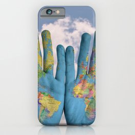 Map the World in your Hands iPhone Case