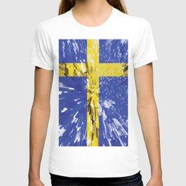 Extruded Flag of Sweden T-shirt