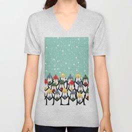 Christmas penguins Unisex V-Neck