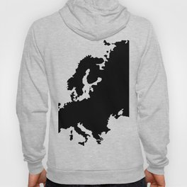 map of Europe Hoody