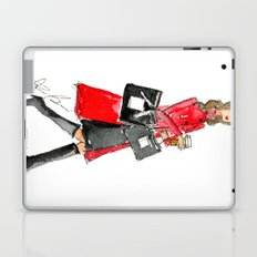 Walking Out of 5th Avenue Fashion Illustation by Elaine Biss Laptop & iPad Skin