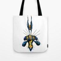 x men Tote Bags featuring X-Men by Nicola Girello