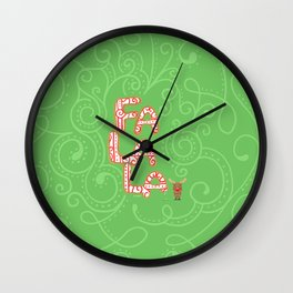 Holiday Cookie for Rudolph Wall Clock