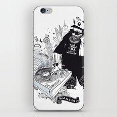 GOD IS A DJ iPhone & iPod Skin