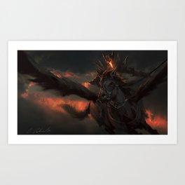Black Pegasus Art Print
