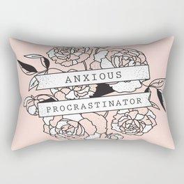anxious procrastinator Rectangular Pillow