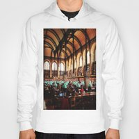 library Hoodies featuring Paris Library by MarianaManina