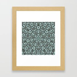 A mandala of masks Framed Art Print