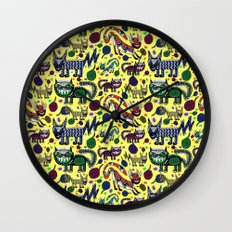 SNEAKY CATS Wall Clock