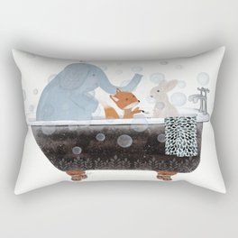 little bath time Rectangular Pillow