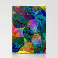 kiss Stationery Cards featuring Kiss by Klara Acel