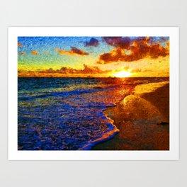 punta cana sunrise Art Print