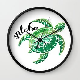 Vintage Hawaiian Distressed Turtle Wall Clock