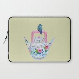 Bluebird and Teapot Laptop Sleeve
