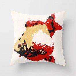 Gold Fish 1 Throw Pillow